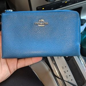 Blue coach wallet